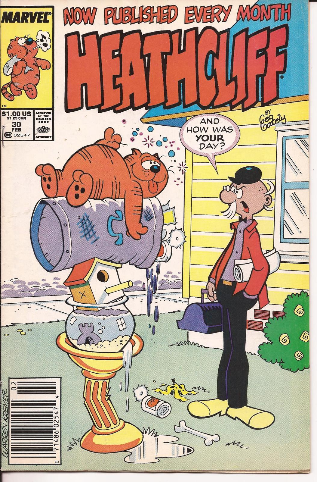 Marvel Heathcliff Lot Issues #1 & 30 Mystery Of The Wax Museum Cap Napping Caper