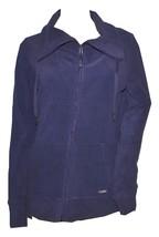 Calvin Klein Women's Polar Fleece Front-zip Jacket Purple Medium (Pb81) - $54.99