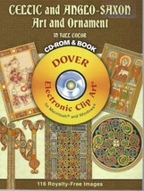 Celtic and Anglo-Saxon Art and Ornament in Full Color CD-ROM and Book by... - $11.99