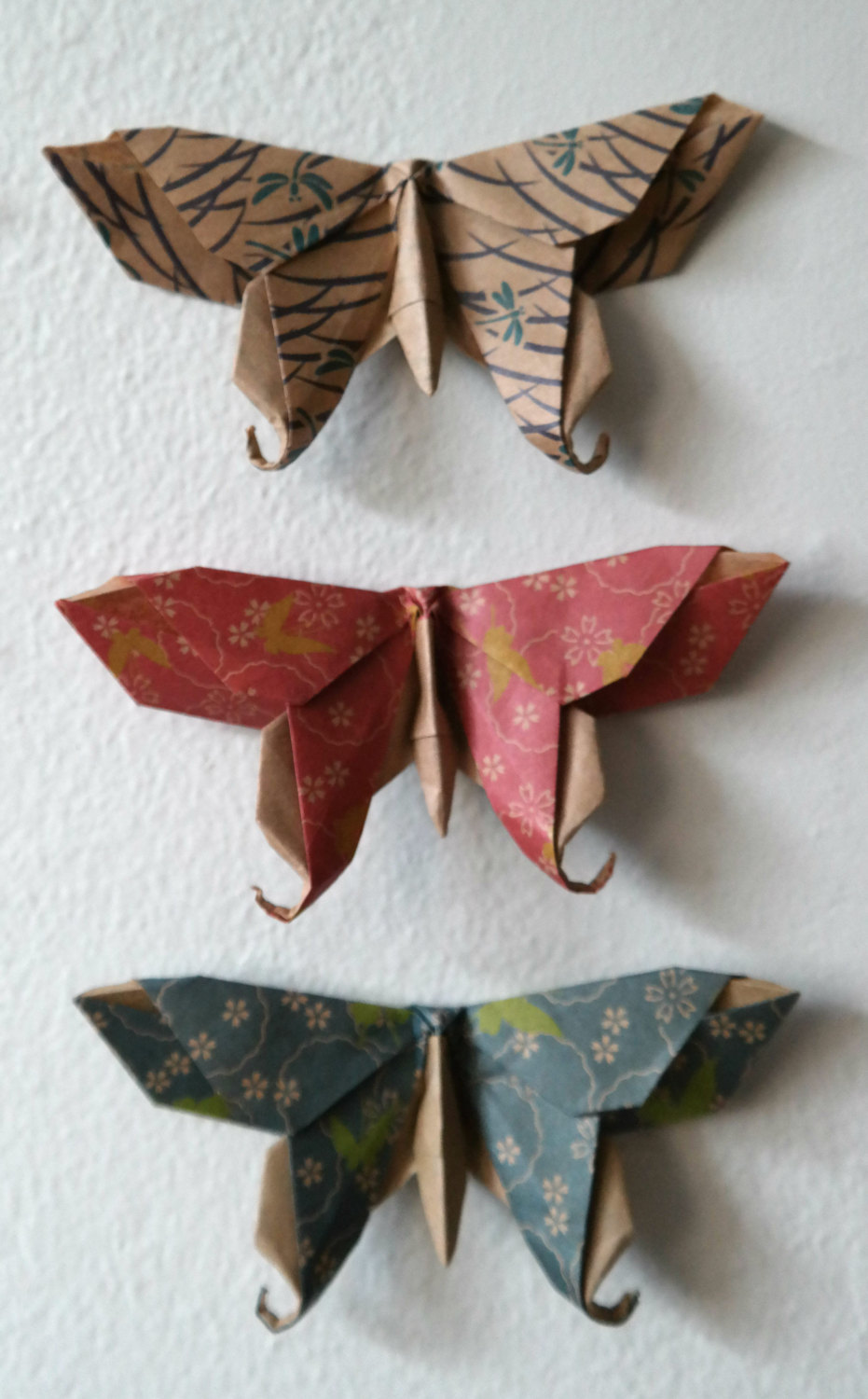 12 large paper origami swallowtail butterflies chiyogami