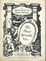 The Most Agreeable Vice:A Selection of Rare Books-Zeitlin&Ver Brugge;No.... - $34.99