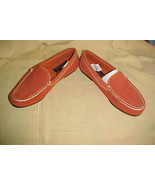 WILSON'S SUEDE SLIP-ON,RUST,SIZE 7,SHELBY MOC-STYLE-NEW;UNISEX CLASSIC S... - $9.99