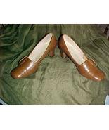 Naturalizer Brown Leather Pumps;Size 7;Buckle;Vinyl Sock Lining;Elastome... - $9.99