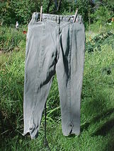 "CORNI-CHE PANTS;SIZE 9/10;WAIST-28"";INSEAM-28"";GRAY;RELAXED;TAPERED LEG;... - $9.99"