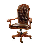 Executive Office Leather Brown Chair - $1,075.00