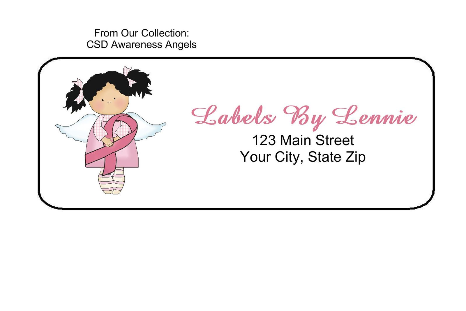 Csd awareness angels  1 personalized return address labels