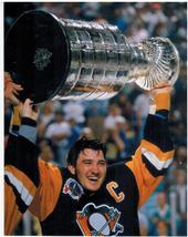 Mario Lemieux Stanley Cup Pittsburgh Penguins Vintage  8X10 Color Hockey... - $5.99