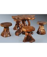 Teak Wood set of 5 Garden/Pool pieces,Mushroom shaped. - $1,495.00