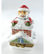 Limoges Box - Santa Claus on Chimney Roof - Chr... - $89.00