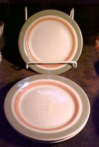 "(3) Shenango China Restaurant Ware PINK & GRAY bands-7¼"" Bread and Butte... - $9.99"