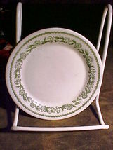 "Buffalo China Restaurant Ware-Green Floral Band 5½"" Dessert Plate-Flower... - $5.99"