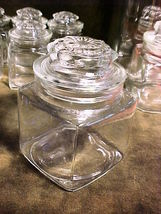 """Anchor Hocking Glass Apothecary Canister 3"""" Square;4¼""""Tall;3¼""""W/O Lid Food/Cra - $9.99"""