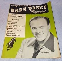 Barn Dance Magazine February 1948 Eddy Arnold, Tex Ritter Cowboy Copas - $9.95
