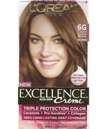 L'Oreal Excellence Creme Triple Protection HAIR COLOR 6G LIGHT GOLDEN BR... - $16.99