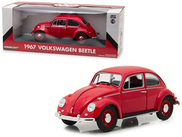1967 Volkswagen Beetle Right Hand Drive Candy Apple Red 1/18 Diecast Model Car b - $72.79