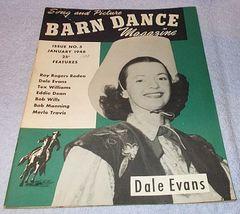 Vintage Barn Dance Magazine January 1948 Dale Evans Bob Wills  - $9.95