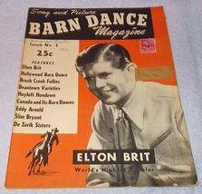 Vintage Barn Dance Magazine 1947 Elton Brit, De Zurik Sisters - $9.95