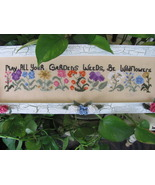 Garden Of Wildflowers cross stitch chart By The Bay Needleart  - $9.00