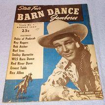 Barn Dance Magazine August 1947 Roy Rogers Burl Ives Enest Tubb - $19.95