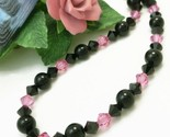 Pink and black swarovski bicone crystal choker necklace 89843fb9 1  thumb155 crop