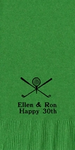 50 PERSONALIZED golf towel fold NAPKINS  - $14.95+