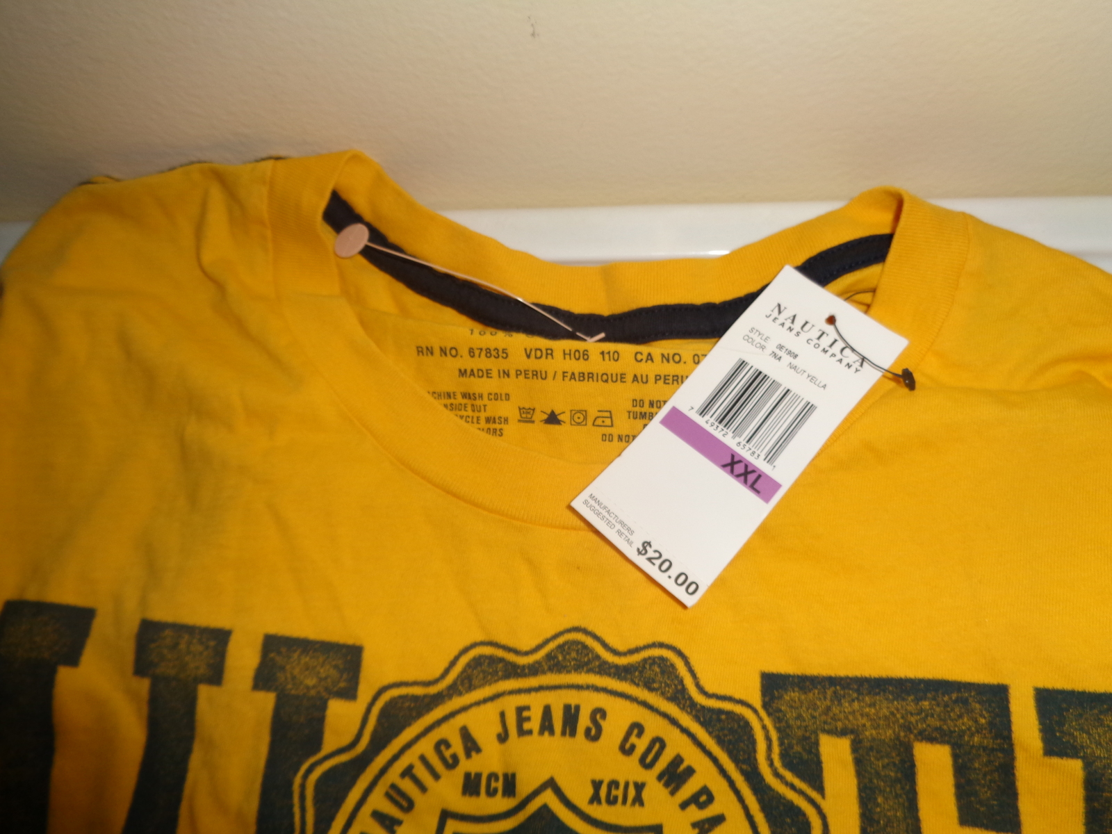 Mens Yellow Nautica Shirt New With Tags