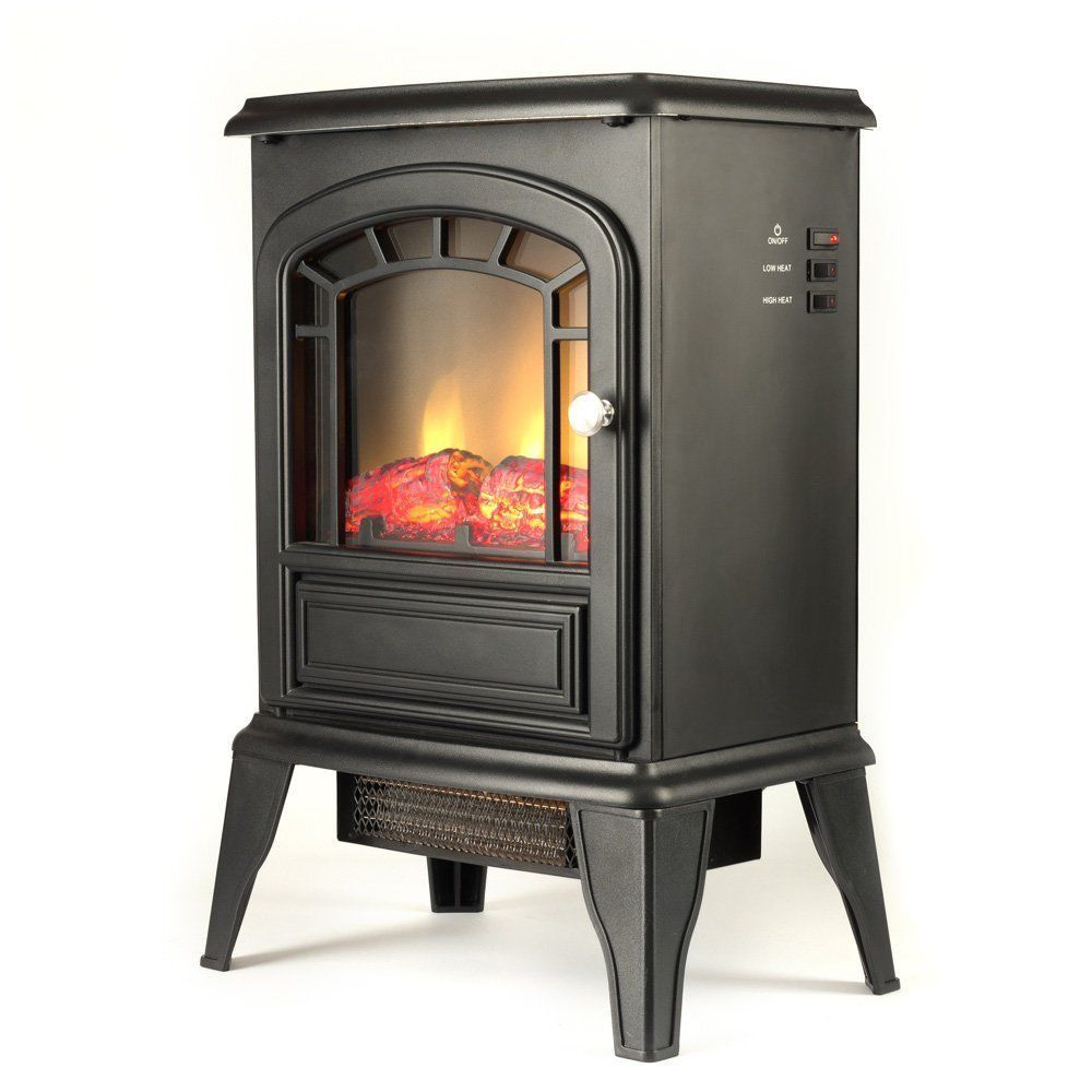 Electric Fireplace Space Heater Stove Mock Wood Burning Thermostat Energy Saver Other