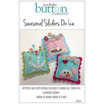 Seasonal Sliders On Ice Pattern Only pincushions cross stitch felt (P105... - $8.00