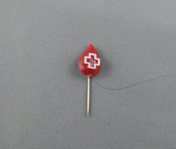 Canada Red Cross - Vintage Blood Droplet Pin - Made of plastic - $12.00