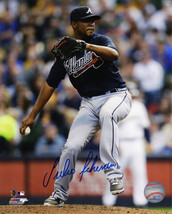 Julio Teheran Signed Atlanta Braves Pitching Action 8x10 Photo - $50.00