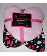 Dreamy Heart Pillow with Cozy Throw Valentines Hearts Multi Colored NEW - $29.99