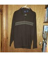 Mens Arrow Brown 2-Button Polo Shirt - Large - $14.99
