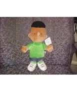 """14"""" Peanuts Franklin Plush Boy Doll Mint With Tags - $93.49"""