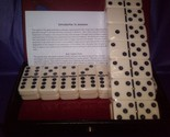 Double Six Dominoes White w/black dots Tournament Size with (Spinners) must have