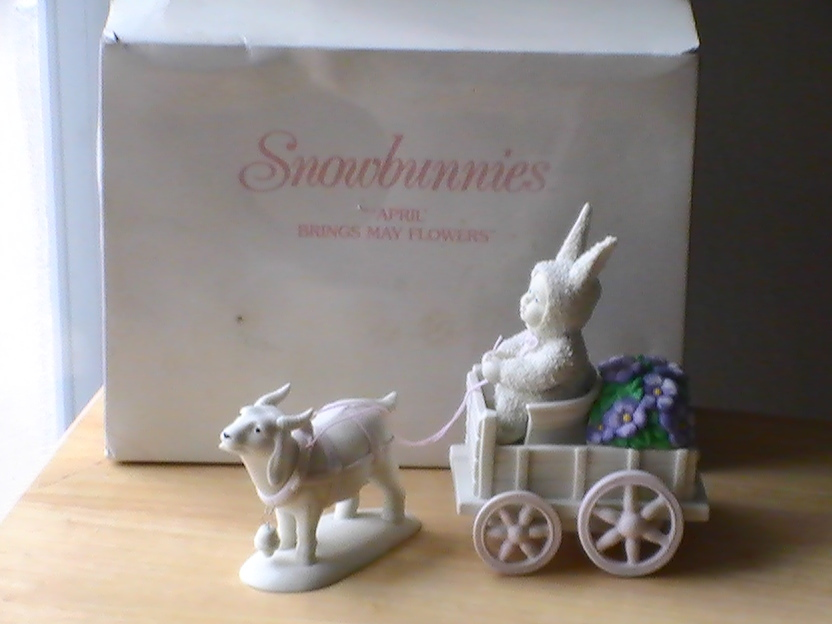"Primary image for Dept. 56 2001 Snowbunnies ""April Bring May Flowers"" Figurine"