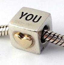 Pandora Love You Plata de Ley con / 14k Cuenta Charm 790200 ,Nuevo, Retirado - $64.13