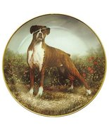 Danbury Mint Boxer Dog plate by Simon Mendez Standing Proud CP2284 - $39.58