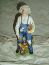 Homco Old Farmer Figurine Home Interiors 1409 - $9.99