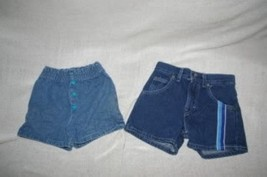 2 Pair Girls Toddler Denim Shorts Size 4T 4 Reg - $8.99