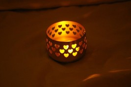 PartyLite Brass  Votive Holder Heart Cut Out Tealight - $4.99