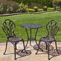 Best Choice Products 3-Piece Bistro Set Black Aluminium Metal Tulip Desi... - $154.95