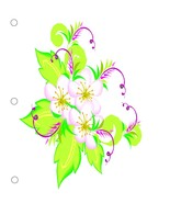 Flower0996  Binder Dividers-Digital Download-Cl... - $3.00