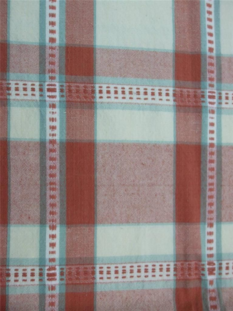 Plaid table cloth cinnamon ivory spice color oblong 52 x for Table linens 52 x 70