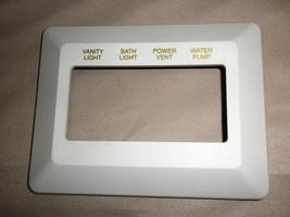 Off White Vanity Light / Bath Light / Power Vent / Water Pump Switch Bezel - $7.92