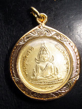 Only One Left! Holy PHRA BUDDHA-CHINARAT BACK R. 5 KING RAMA 5 Buddha Am... - $19.99