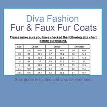 Shaggy Long Hair White and Black Angora Sheep Faux Fur Medium Length Coat Jacket image 4