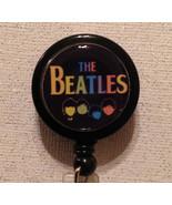 Beatles Badge Reel Id Holder Lanyard Black Alligator Clip Handmade New - $8.99