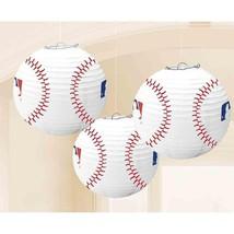 MLB Baseball Paper Lantern Hanging Decorations - 3 Pieces - FREE Shipping! - $189,67 MXN