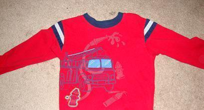 2pc toddler boy Firetruck outfit size 5T