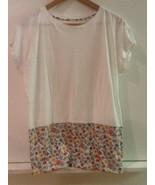 Uniqlo Liberty London Design Shirt White Floral Tunic Top Sz XS Extra Small - $17.95